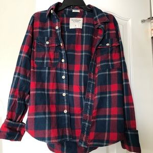 abercrombie and fitch plaid flannel